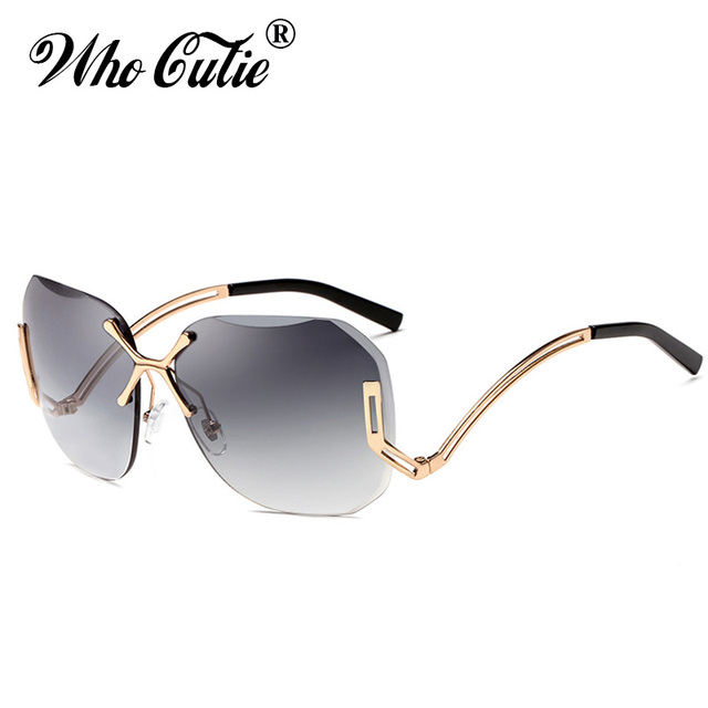 QUI CUTIE 2018 Sans Monture Transparente Teinte Clair pilote lunettes de  Soleil Femmes CUT OFF Sans f383e7ed390b