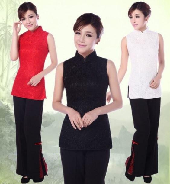 Shanghai Story Fashion Cheongsam New Sale Sleeveless Lace Cheongsam Vintage Cheongsam Dress Mandarin Qipao JY034--3 3 Color