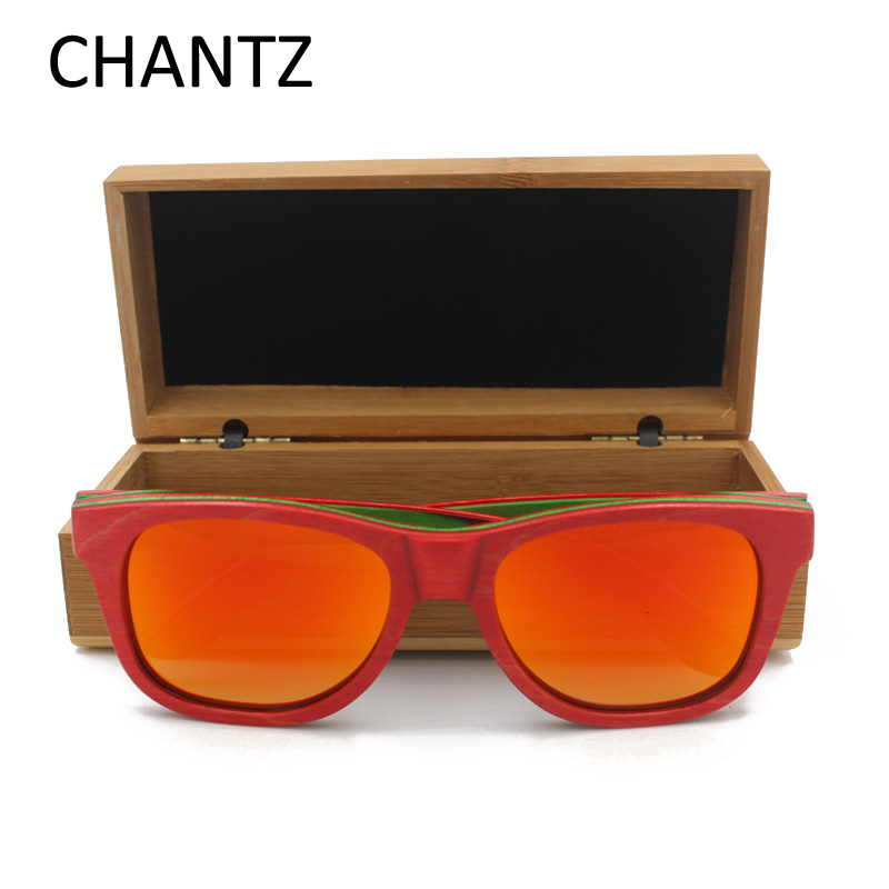 Hochwertige Holzsonnenbrille Polarisierte Spiegelbrille Frauen Herren - Bekleidungszubehör