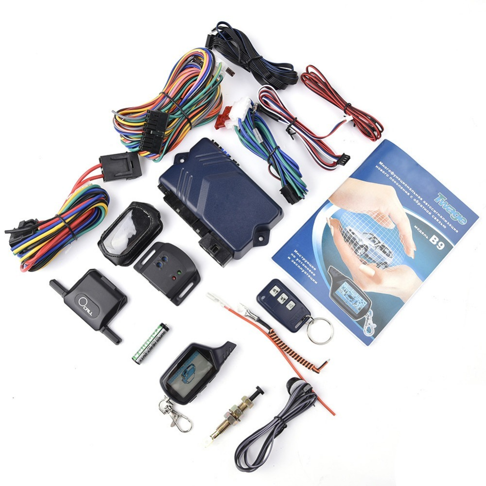 Two-way Car Burglar Alarm keychain RC Anti-theft Device System Russian version Two Way Other For Twage Starline B9 hzsecurity electromagnetic system em library anti theft system one aisle page 9
