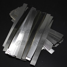 100pcs/lot 0.15mm x 5mm x 100mm Quality low resistance 99.96% pure nickel Strip Sheets for battery spot welding machine(China (Mainland))