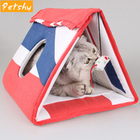 Petshy Multi functional Pet Dog Kennel Pad Cat Scratching Post Natural Sisal Mat Toy Scratch Board Pad Puppy Kitten Tunnel Tubes