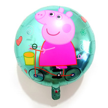 1pcs 18inch Peppa Pig Balloon Party Room Dcorations Figure Foil Balloons Toy Kids Peppa Pig Toys Cartoon Ballon Birthday Gift