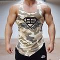2016 Year Professional bodybuilding Muscle Men's vest vest Superman menswear brand gymshark stringer Blazer camouflage vest