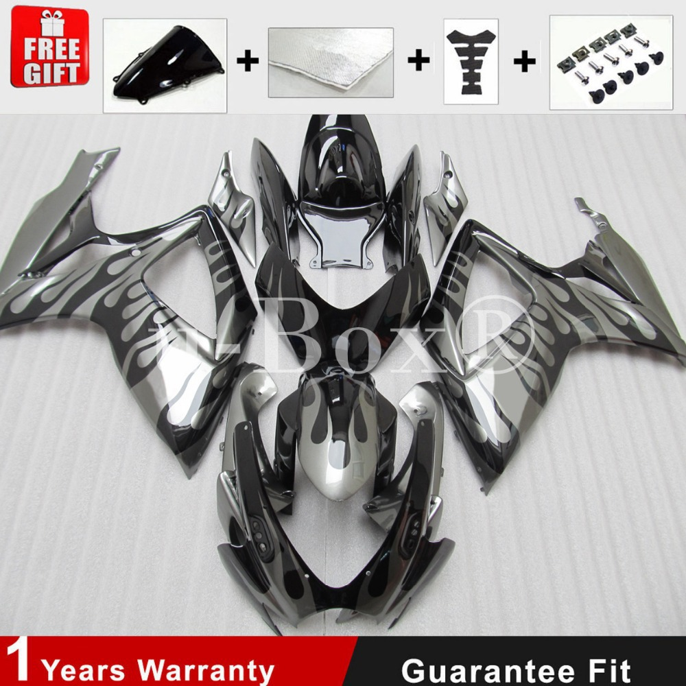 Injection mold Fairing kit for KAWASAKI ZX6R 636 05 06 ZX 6R 2005 2006 zx6r 05 06 WEST White black Fairings set +7 gifts AB01