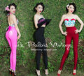 FREE SHIPPING Le Palais vintage retro classic candy color ultra skinny waist bag hip feet pencil pants legging