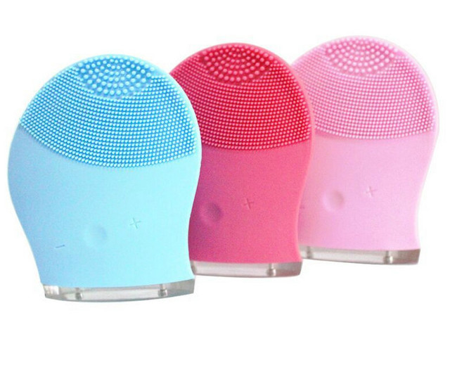 Skin care Mini electric facial cleaning massage brush sonic face washing machine waterproof silicone face cleanser dirt remove