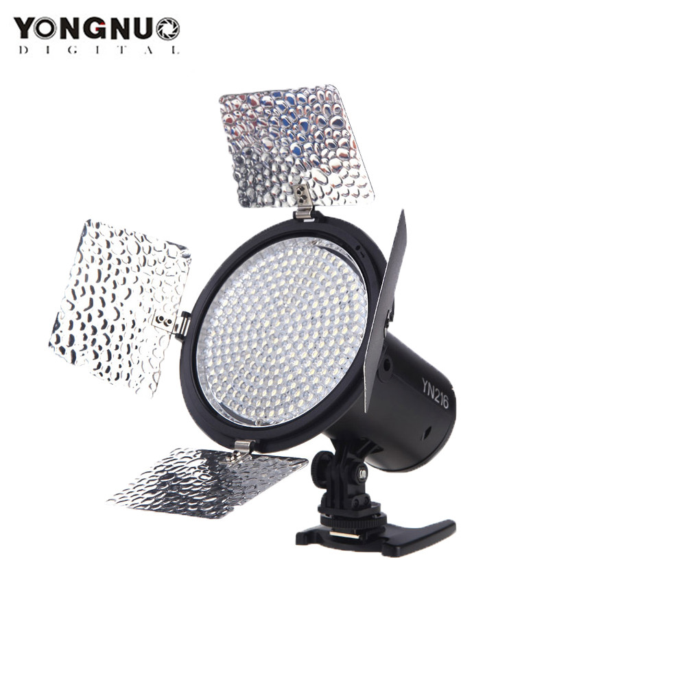 Yongnuo YN-216 YN216 LED Studio Video Light Photography Light 5500K 4 Color Charts for Canon Nikon Sony Camcorder DSLR Cameras
