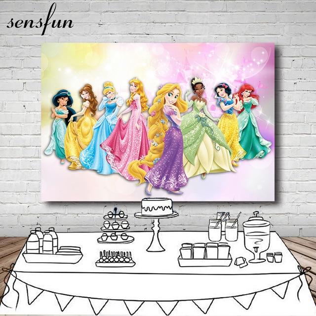 Sensfun Tangled Rapunzel Princess Backdrop For Girls Birthday Party Background For Photo Studio 7x5FT Vinyl