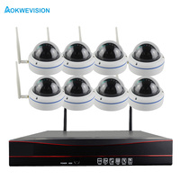 Plug And Play 8CH NVR WIFI CCTV System P2P 1080P H 264 HD Home Security Wireless
