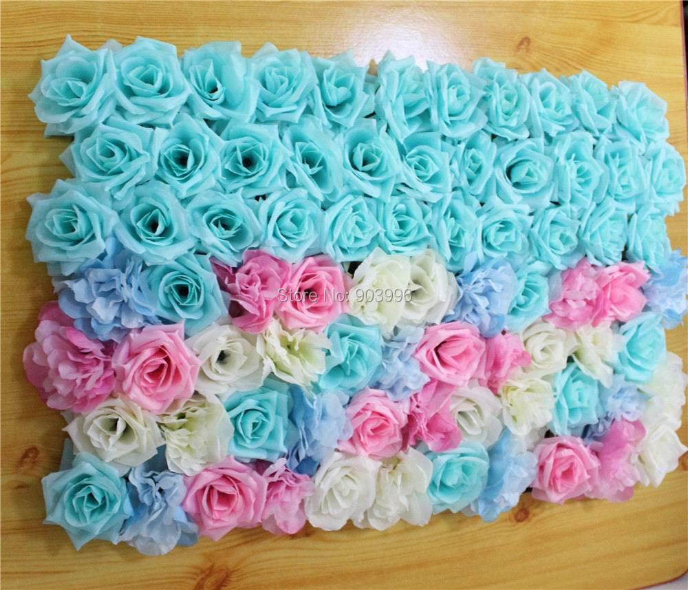 SPR EMS Doprava zdarma 60 * 40cm Umělé hedvábí růže květ zeď svatební pozadí trávník / pilíř květina domácí trh dekorace