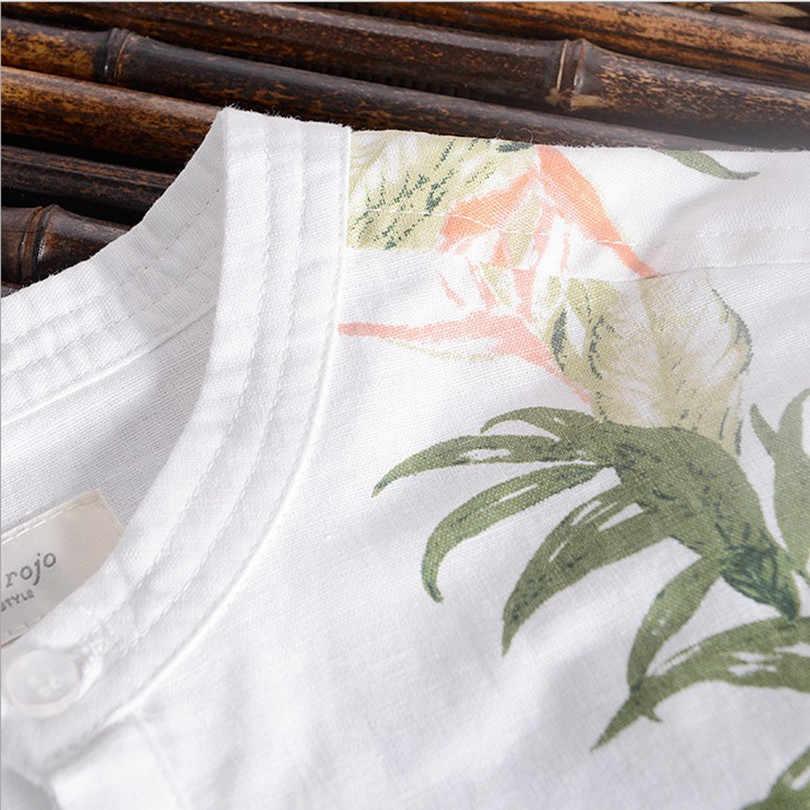 cf1d04491 ... 2017 men's half sleeve pure linen shirt flower print short sleeves  summer shirt men chinese style ...