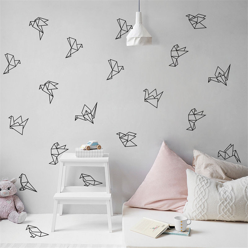 Geometric Origami Bird Wall Decal Nursery Art Deco