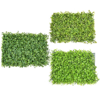 3Types DIY Artificial Lawns Decorative Plastic Grass Turf Landscaping Square Eucalyptus Leaf Lawn Shopping Mall Restaurant