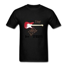 лучшая цена Create T Shirt Online  Men'S Short Normal Dire Straits Guitar Crew Neck Fashion 2017 Tees