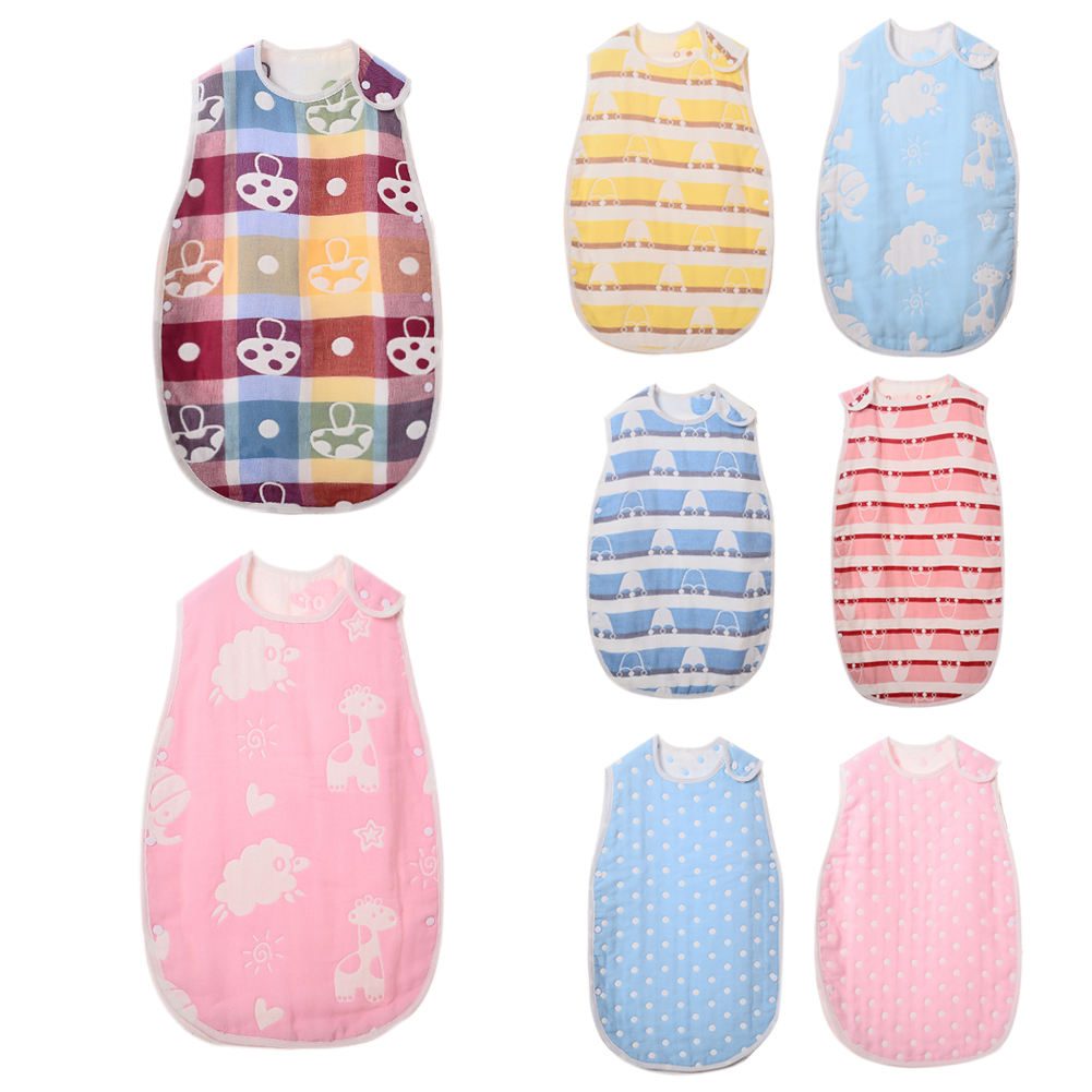 1 Pc New Arrival Fashion Baby Infants Kids Cartoon Print Sleeping Bag Soft Cotton Swaddle Wrap Baby Bedding Blanket Clothes ...