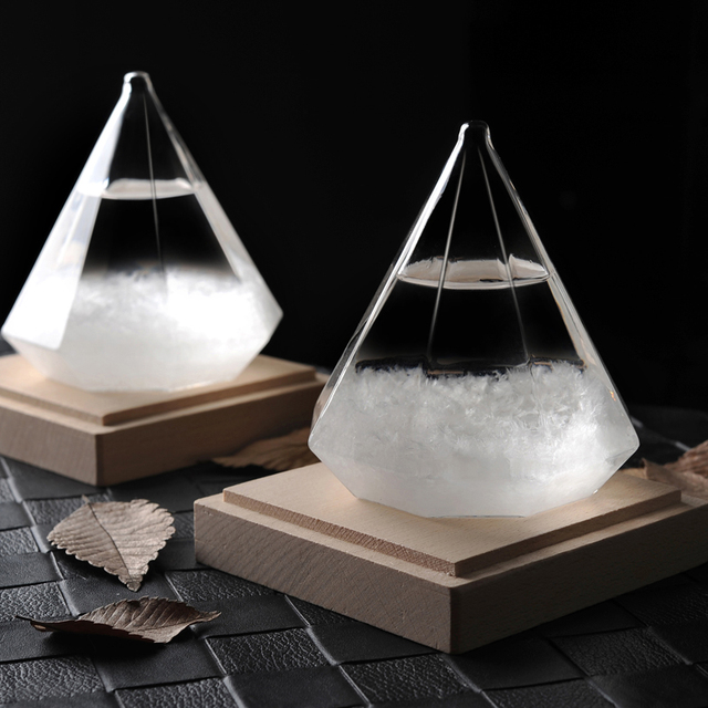 New Diamond Storm Glass The Weather Forecast Bottle Crystal Vintage Home  Decor Christmas Decoration Accessories Vase