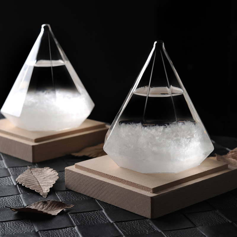 New Diamond Storm Glass The Weather Forecast Bottle Crystal vintage home decor christmas decoration accessories vase craft gift