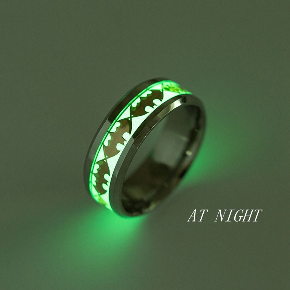 Glow In The Dark Wedding Ring Finger