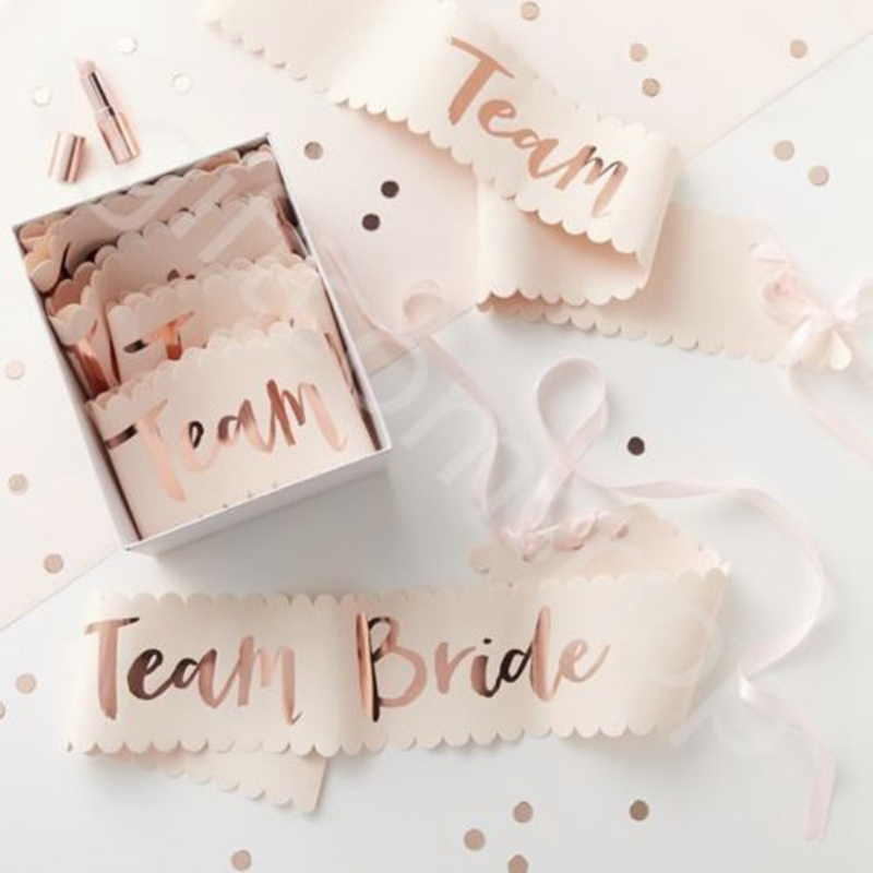 Team Bride Sash Bride To Be Wedding Bridal Shower Bachelorette Bridesmaids  Shoulder Strap Wedding Photo Props Party Decoration