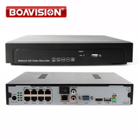 1 0U 8CH Onvif Full HD 3MP 5MP 1080P 48V Real PoE NVR All In One
