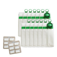12Pcs Vacuum Cleaner Bags Dust Bag For Vorwerk Vk140 Vk150 +Fragrance(China)