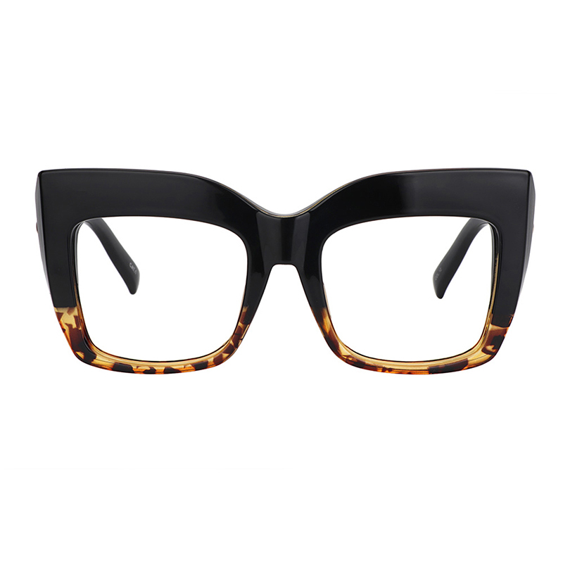 Zeelool Vintage Oversized Thick Cat Eye Glasses For Women With Clear Lens Alberta FP0668