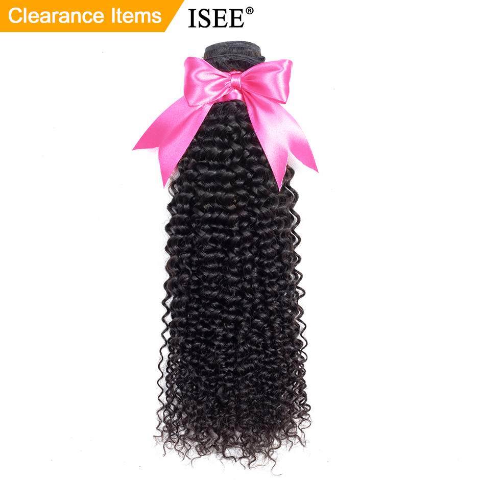 ISEE HAIR Mongolian Kinky Curly Hair Bundles Remy Ihmisen hiuspidennykset Luonto Väri voi ostaa 1/3/4 pakkausta Kinky Curly Bundles