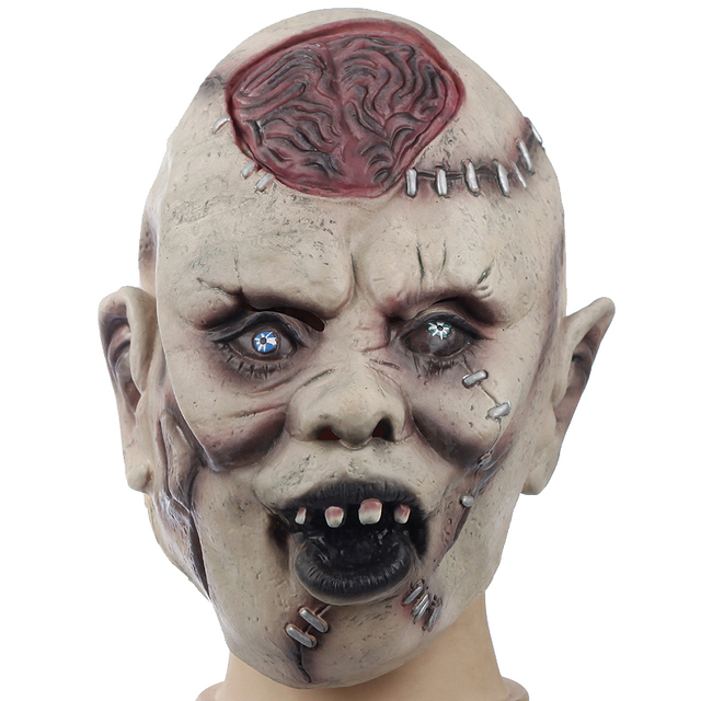 devils monster latex scary mask halloween buck teeth ghost mascara terror cosplay prank props party masquerade