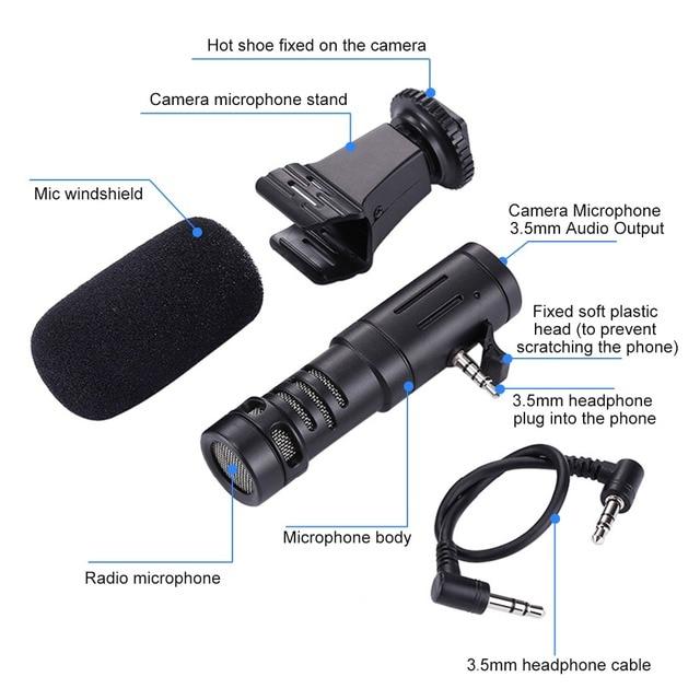 Accessories Mini Portable 3.5mm Condenser SmartPhone Microphone 3.5MM