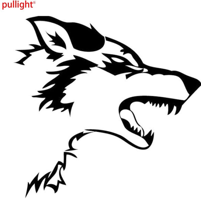Aggressive wolf vinyl stickers / decals windows - laptops decals beasts