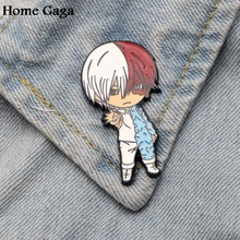 Homegaga My hero academia Zinc alloy tie pins badges para shirt bag clothes cap backpack shoes brooches badge decorations D1505(China)