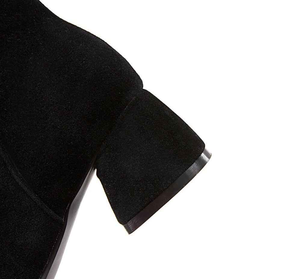 gris Bottes Pointu Mode De Sabot Gris Bout Drop Dames Hiver Shipping noir Zip Noir Talons Beige Femmes Beige Cheville Troupeau Chaussures Bootie 14Fzwqttx