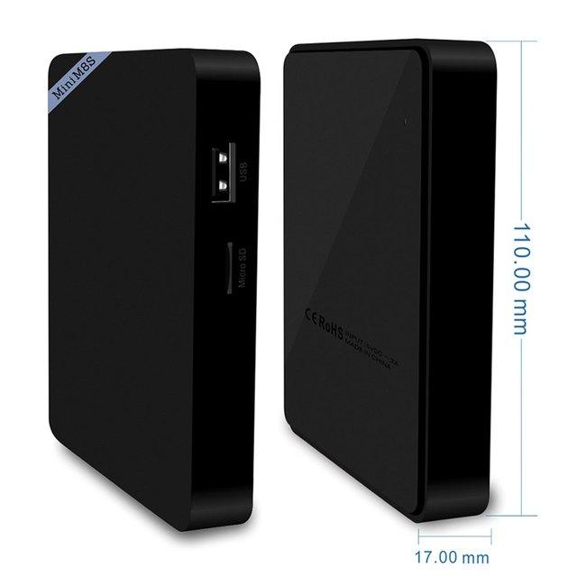 Mini M8S II Smart TV Box Set-top Box 4K Amlogic S905X Quad Core Android 6.0 2.4GHz WiFi Bluetooth 4.0 1/2GB RAM 8GB Media Player