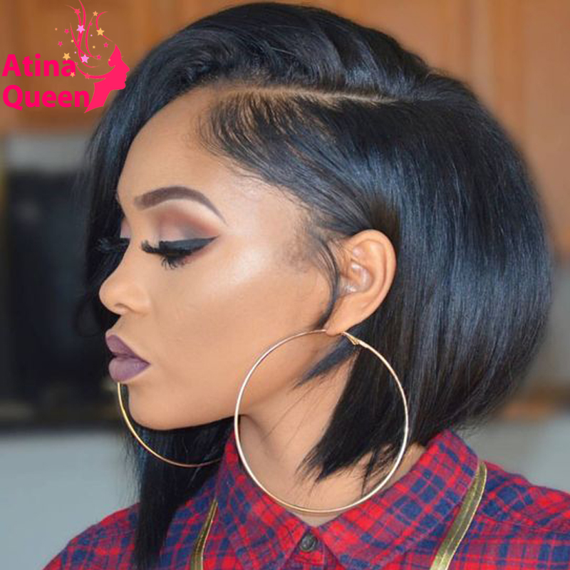 Glueless Human Hair Short Wigs For Black Women African American Bob