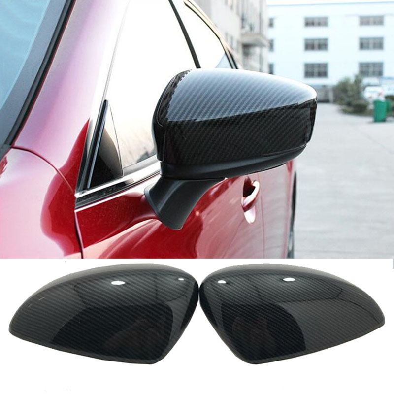 For Mazda 6 M6 Atenza 2014-2018 ABS Carbon Fiber Style Extetior Side Door Back Mirrors Rear View Mirror Cover Trim Car-Styling