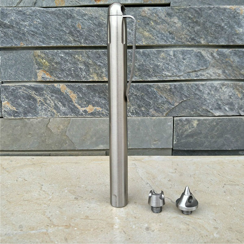 Tactical Pen Self-defense Pen Stainless Steel Defense Supplies Outdoor Emergency Glass Breaker Tool 3 Replaceable Attack Head