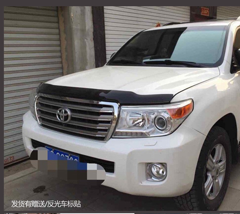 For Toyota Land Cruiser LC200 2016 2017 ABS Plastic Sand Block Guard Deflectors Front Lip Gravel Block Sticker Cover Car Styling car styling abs chrome door body mouldings protection liner garnish covers strip 4pcs for toyota land cruiser lc200 2008 2017