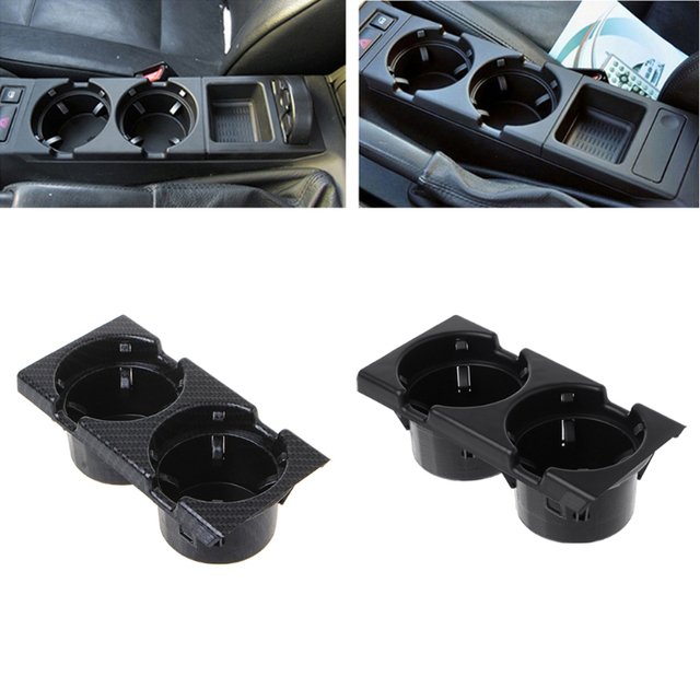 Free delivery Front Center Console Drink Bottle Cup Holders Containers For BMW E46 3Series