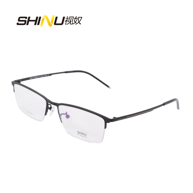 b828666cd65 Computer Occhiali Al Titanio Telaio uomini di Memoria Montature per occhiali  2 Colori Occhiali Da Vista