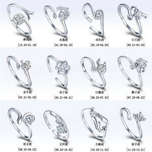 Adjustable Rings Gemini Open Aries Libra Taurus Cancer Sagittarius Virgo Scorpius Wedding-Love