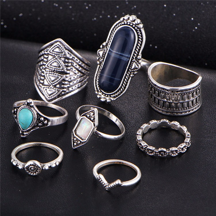 HTB1DtADOFXXXXb_aXXXq6xXFXXX6 Tribal Boho Jewelry Set 8-Pieces Vintage Tibetan Turkish Knuckle Rings - 2 Colors