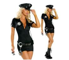 High Quality Black Police Party Costume Adult Female Police Uniform Halloween Cosplay Sexy ladies police costume black police hat cosplay police accessories military hat uniform cap police uniform hat halloween party supplies