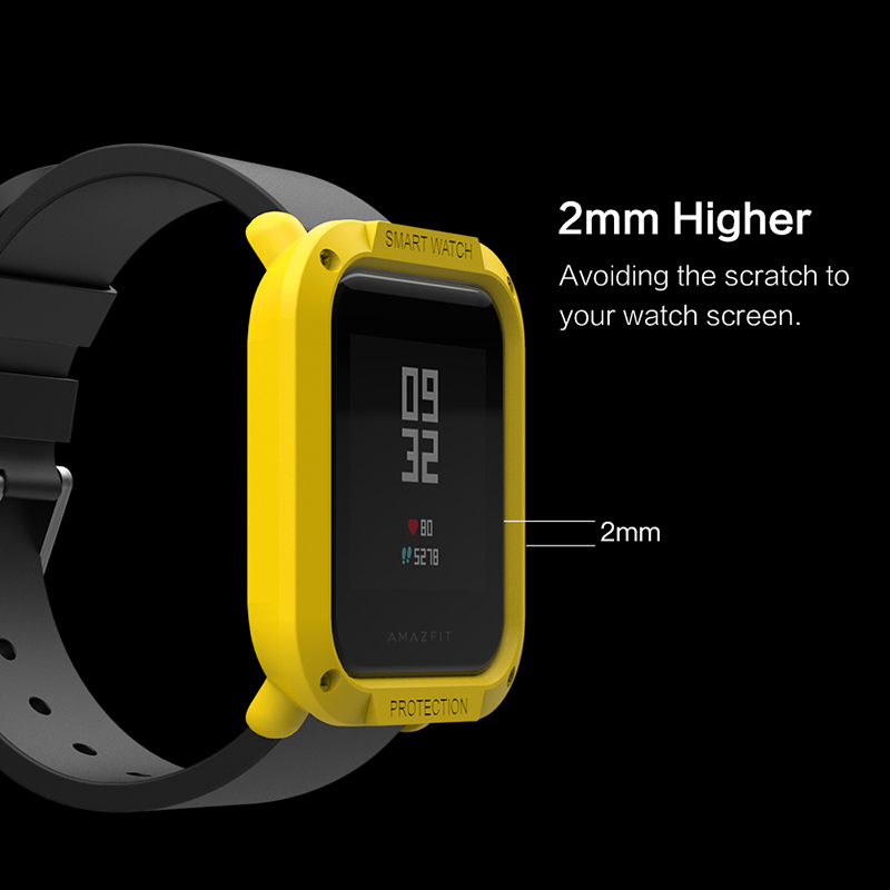 Image 3 - For Amazfit Bip Cases Smart Watches protector for Xiaomi Mi Huami Covers Midong PC Shell Lightweight Colourful SIKAI bip lite-in Smart Accessories from Consumer Electronics