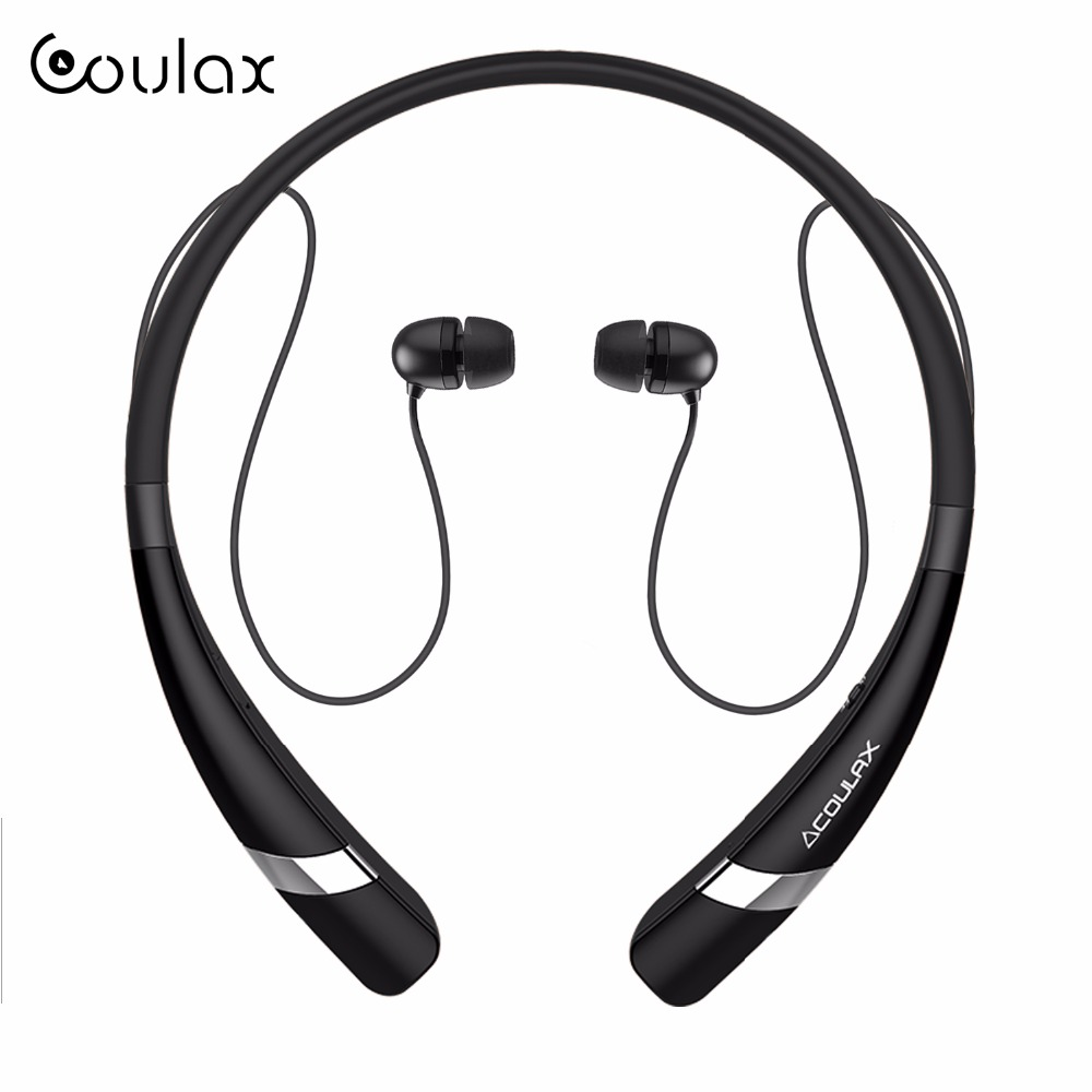 buy coulax bluetooth headset wireless headphones for mobile phone with. Black Bedroom Furniture Sets. Home Design Ideas