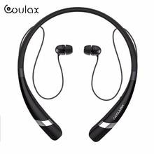COULAX Bluetooth Wireless Headset Auriculares para el teléfono móvil con Micrófono Estéreo Deporte Auricular Bluetooth para el iphone Android