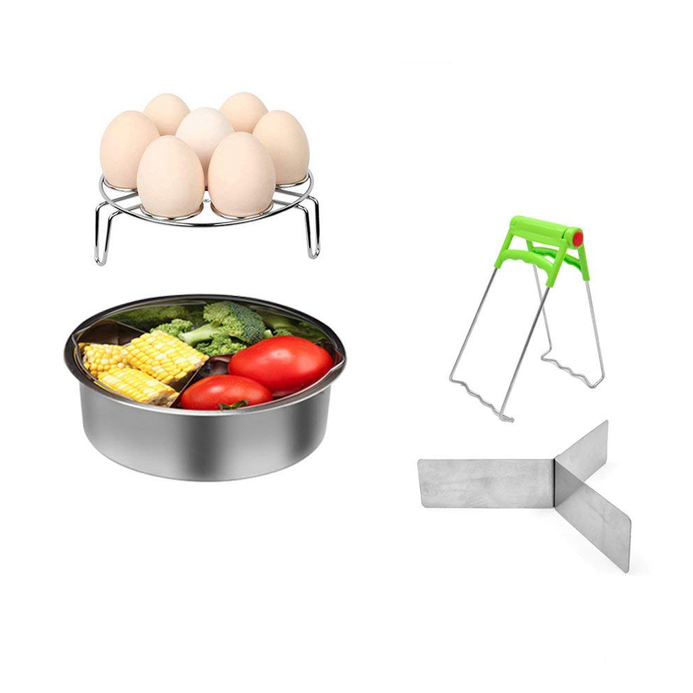 4PCS/Set Stainless Steel Time-saving Dishwasher Food Grade Steamer Basket Rack Set Pressure Cooker Accessories For Home Kitchen