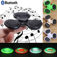 Anti Stress Cool Fidget Spinner TF Card Bluetooth Speaker EDC Toys Hand Spinner Tri Spinners For