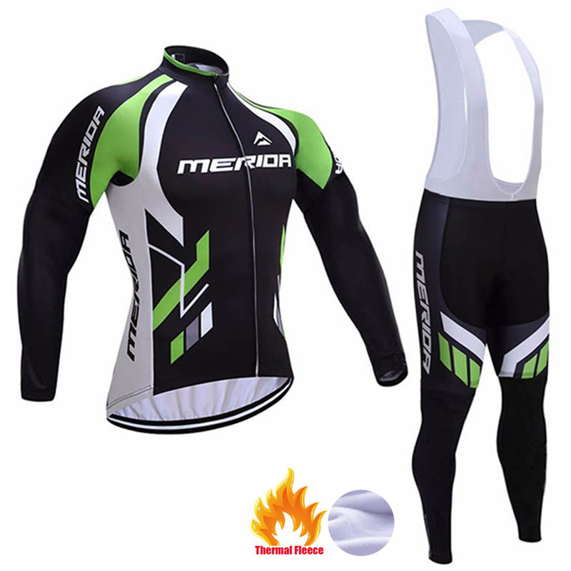 2018 Men merida cycling clothing ropa ciclismo long sleeve bike shirts bib pants suit winter thermal fleece cycling jersey : 91lifestyle