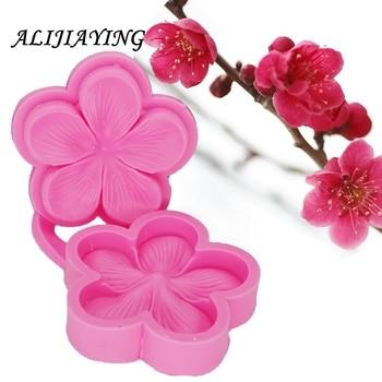 Ciruela flor Sugarcraft molde de flor en silicona fondant molde boda pastel decoración molde y herramientas para chocolate D1302